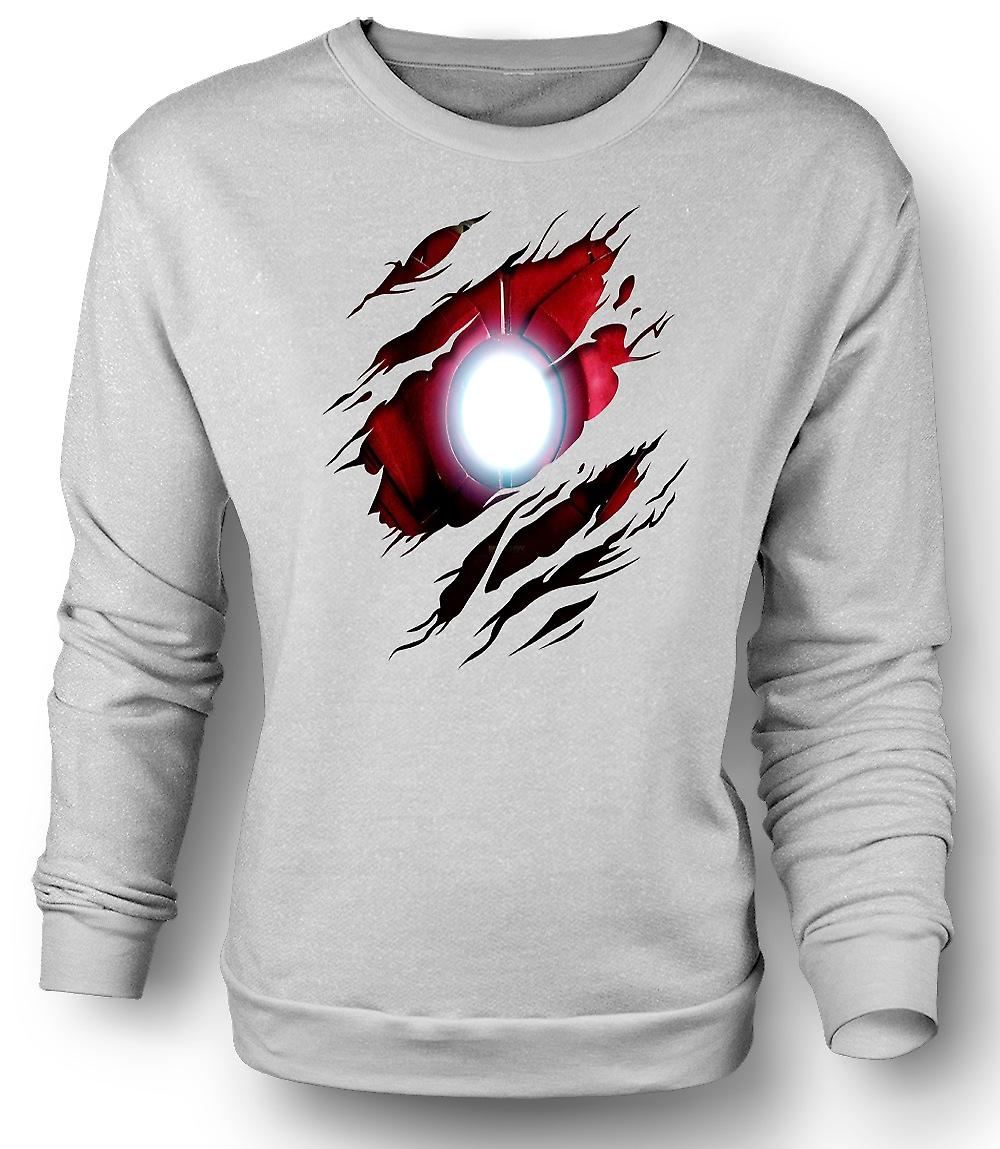 Mens Sweatshirt Iron Man Under skjorta effekt - film Superhero