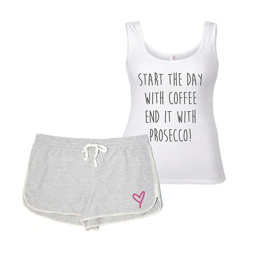 Start The Day With Coffee End It With Prosecco Pyjamas