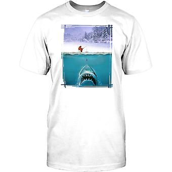 Jaws Parody - Ice Fisherman - Funny Kids T Shirt