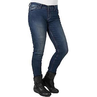 Bull-It SP120 Vintage blu Slim - breve Womens moto Jeans