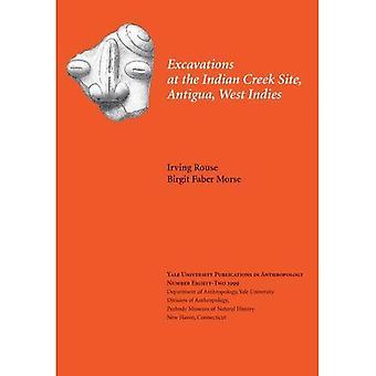 Utgrävningar på indiska Creek webbplats, Antigua, Västindien