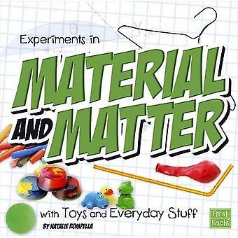 Eksperymenty w materiał i sprawy z zabawki i rzeczy codziennego użytku (nauki zabawy)