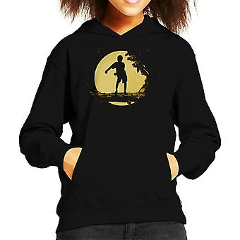 Sunset Flossing Silhouette Kid's Hooded Sweatshirt