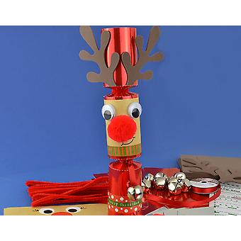8 Jingle & Wobble Stand Up Rudolph Reindeer Make Your Own Christmas Crackers Kit