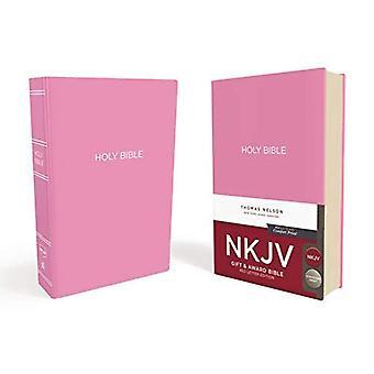 NKJV, Geschenk und Auszeichnung Bibel, Leder-Look, Pink, Red Letter Edition Comfort Print