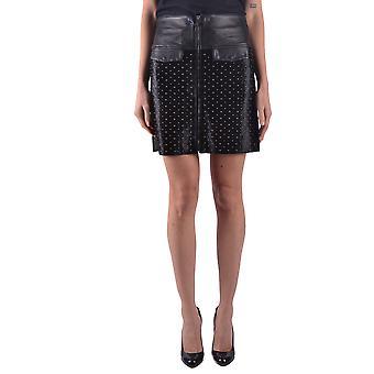 Jacob Cohen Black Leather Skirt