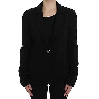 Marghi Lo` Black Stretch Blazer Jacket -- SIG3668357