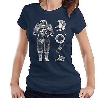 NASA Apollo 14 A7 L Druckanzug X Ray Damen T-Shirt