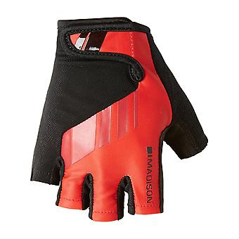 Madison Flame Red 2018 Peloton Fingerless Cycling Gloves