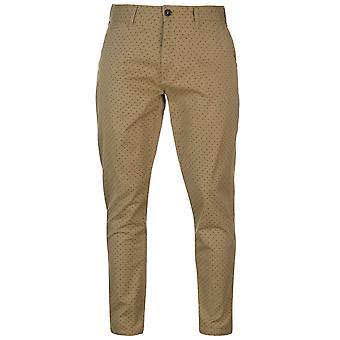 Pierre Cardin Mens AOP Chino Casual Bottoms pantaloni