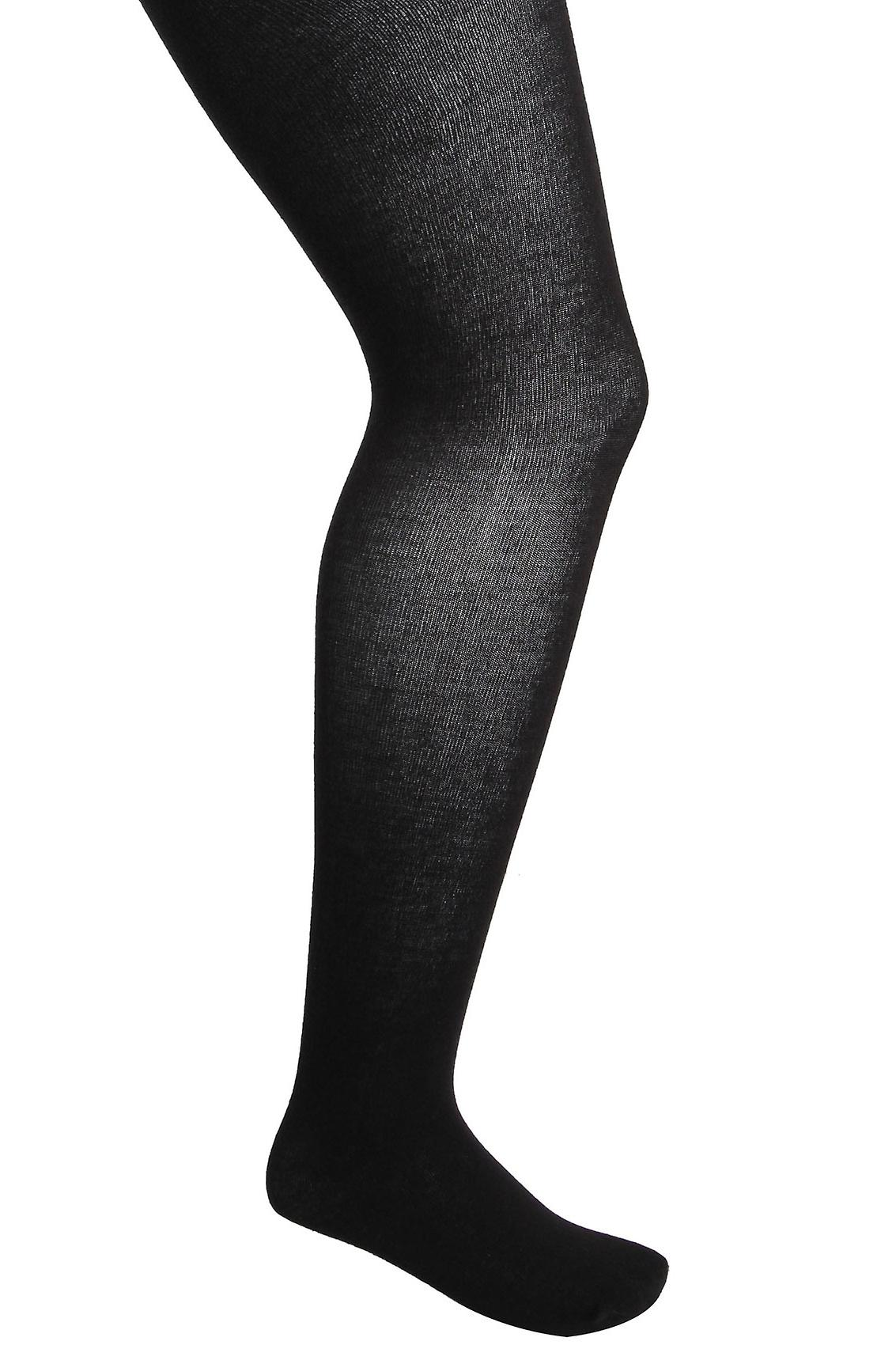 Svart 200 Denier super tykk Tights