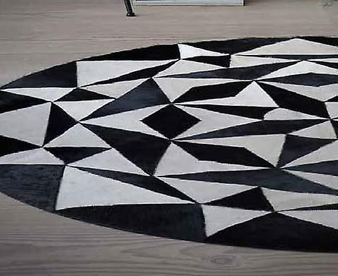 Rugs - Linie Ambition Leather - White & Black