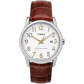 Timex-klokken lett leser signatur 38 mm skinn TW2R65000