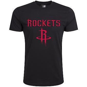 Ny æra Basic shirt-NBA Houston Rockets sort