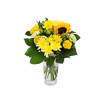 Bunch of Flowers Kim large, yellow | Height: 45 cm