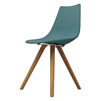 Fusion Living Iconic Sarcelle Plastic Dining Chair With Light Wood Legs Fusion Living Iconic