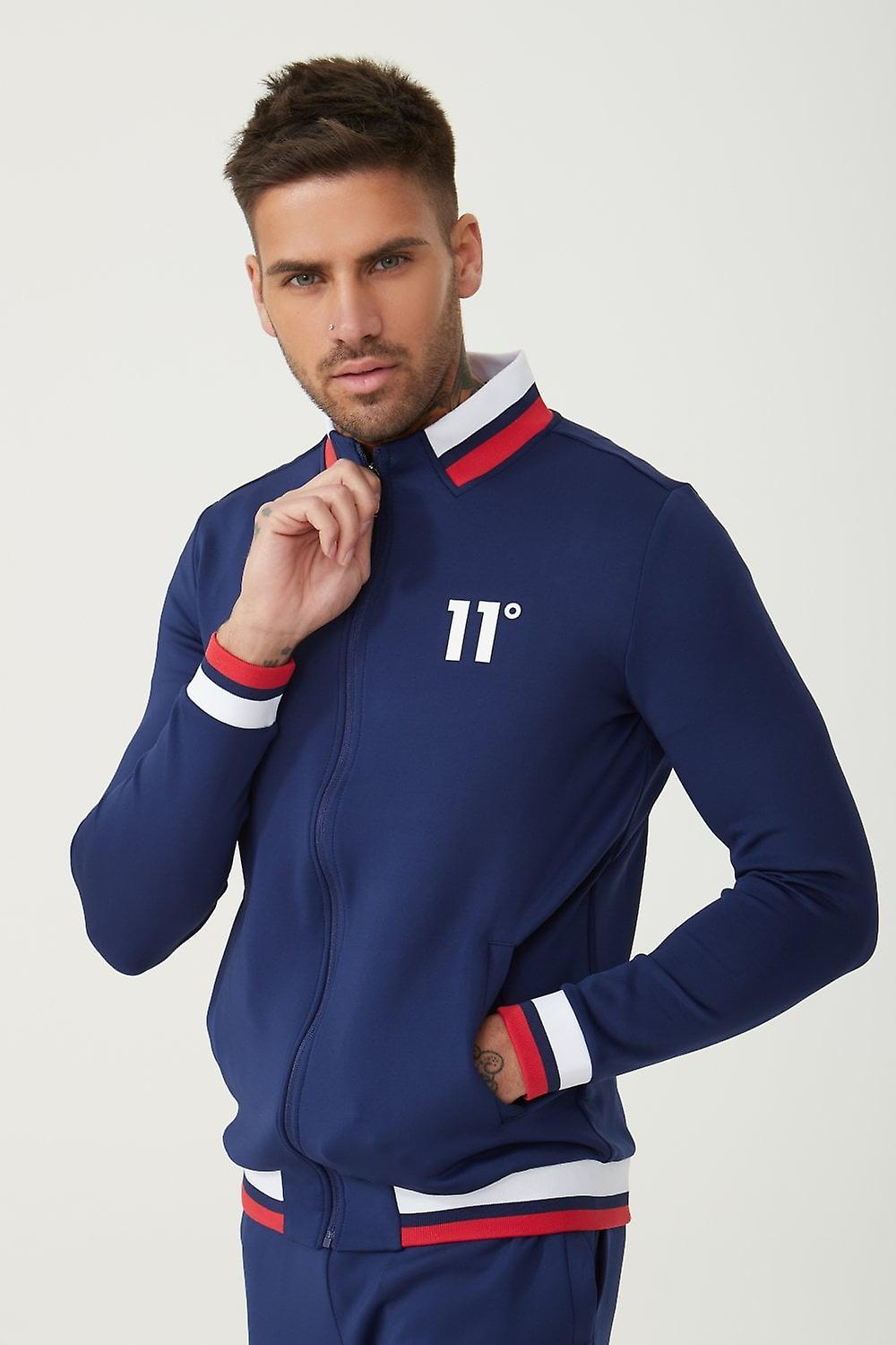 11 Degrees Poly Tricot Full Zip Through veste - Navy