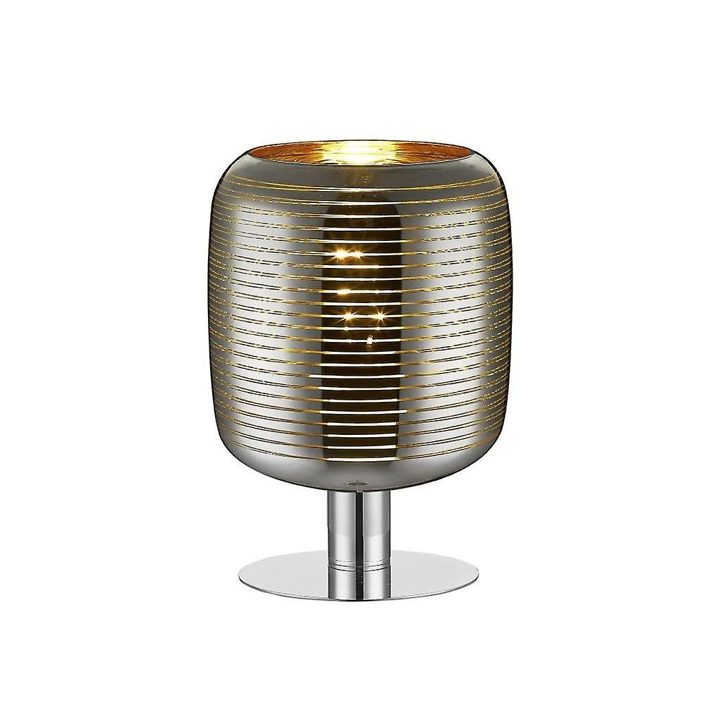 Lucide Eryn Modern Oval Glass Chrome And or Table Lamp