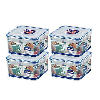 Lock and Lock 1.2L Square Container, Set of 4