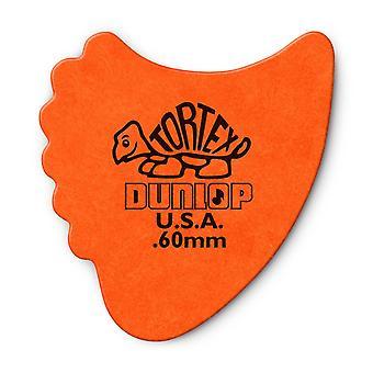 6 Jim Dunlop All In One Fins Guitar Picks/Plectrums - Orange Medium 0.67mm