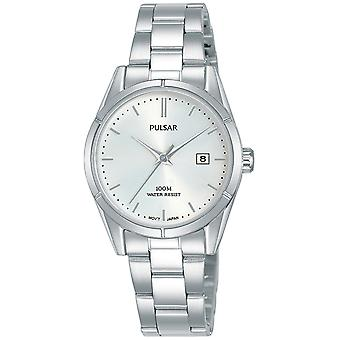 Pulsar active Japanese Quartz Analog Woman Watch with STAINLEss Steel Bracelet PH7471X1