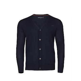 Button Up Cardigan - Navy