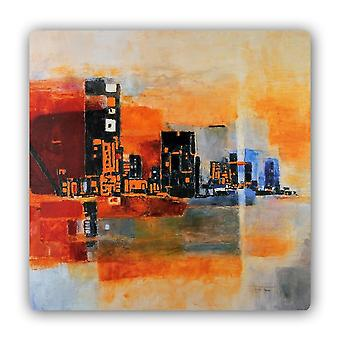 Metal Print, Abstraction Panorama City