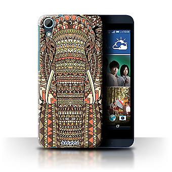 STUFF4 Case/Cover for HTC Desire 626G+/Elephant-Sepia/Aztec Animal
