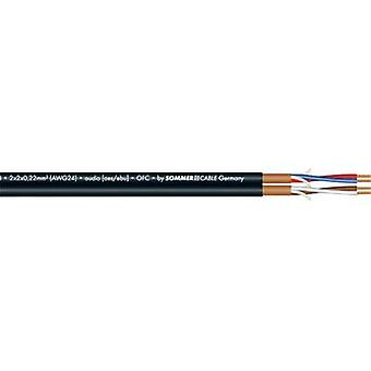 Microphone cable 2 x 2 x 0.22 mm² Black Sommer Cable 200-0551 Sold per metre