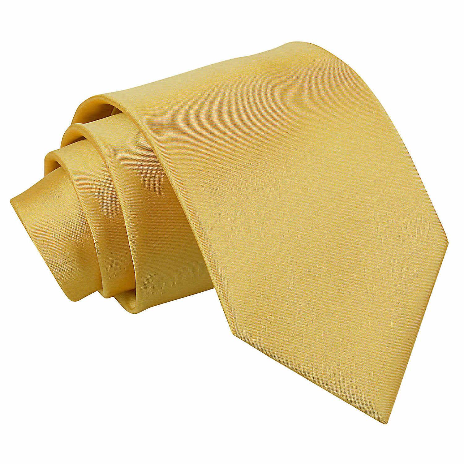 Plain Gold Satin Tie