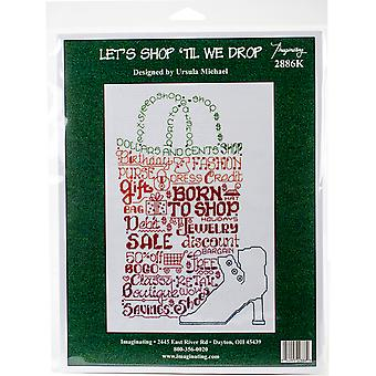 Let's Shop Counted Cross Stitch Kit-6.25