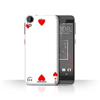 STUFF4 Case/Cover for HTC Desire 530/2 of Hearts/Playing Cards