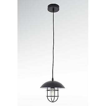 Pendant luminaire Nael black work lights design metal Ø 21, 5 cm