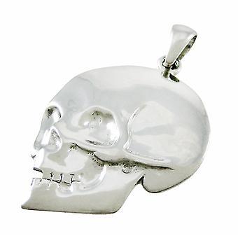 Silvertone Skull Pendant