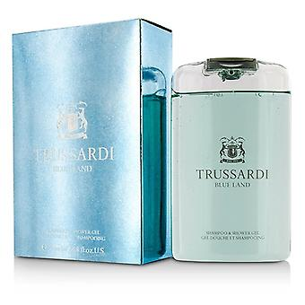 Trussardi blå mark schampo & Shower Gel 200ml / 6,7 oz