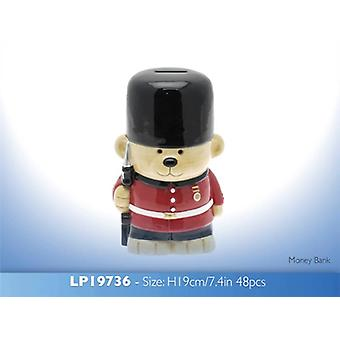 Guardsman Bear Money Bank
