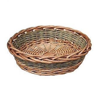 Large Unpeeled Willow Round Tray