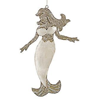 Shimmery Mermaid Capiz Shell juleferien pryde 6.75 tommers