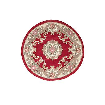 Red Traditional Wool Round Rug Imperial
