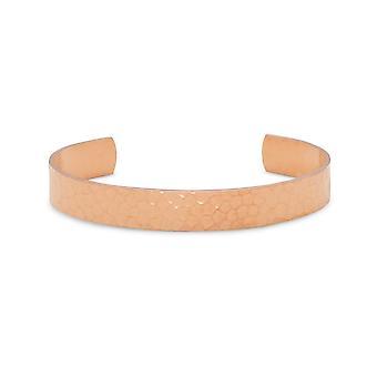 9,5 mm massivem Kupfer Manschette Armband gehämmert