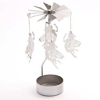 Fairy Tealight Powered Metal Spinning Decoration