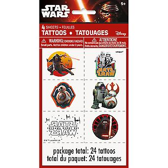 Star Wars The Force Awakens temporära tatueringar [4 ark]