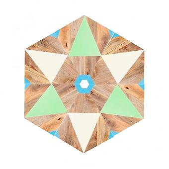 Boutique Camping 6 Piece Geometric Hand Painted Table