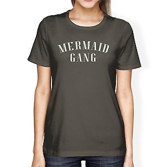 Zeemeermin bende donker grijs Womens lichtgewicht zomer afbeelding T-Shirt