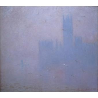 Claude Monet - Thames & Houses of Parliament Poster Print Giclee
