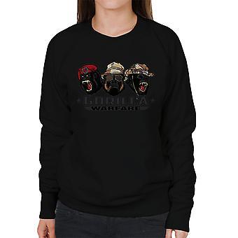 Gorilla krigsførelse kvinders Sweatshirt
