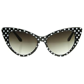 Polka Dot Cat Eye Mod Damenmode Super Cat Sonnenbrille