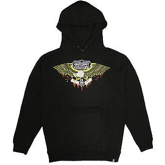 Rebel8 Bombers Pullover Hoodie Black