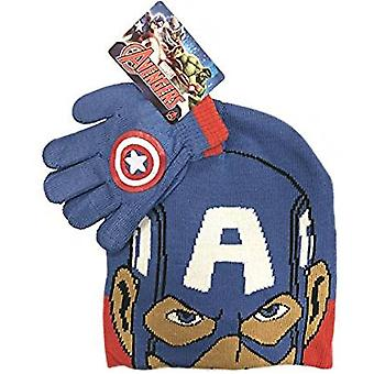 Marvel Avengers Captain America Children's Hat & Glove Set