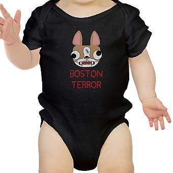Boston Terror Terrier Halloween divertido bebé mono algodón bebé regalos